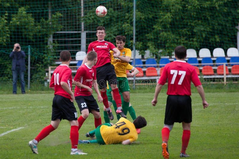Звезда Lyubertsy – Kotelniki футбольного матча стоковое фото rf