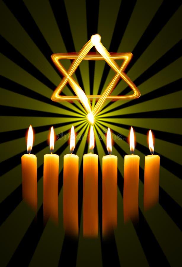звезда menorah стоковые фото