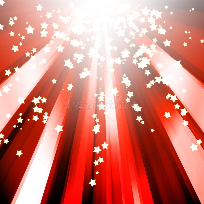 звезда sparkle абстрактной предпосылки красная иллюстрация штока