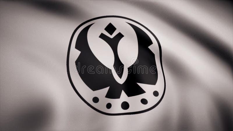 Звездные войны бунтуют флаг логотипа символа союзничества Звездные войны бунтуют флаг логотипа символа союзничества выставка Мичи иллюстрация штока