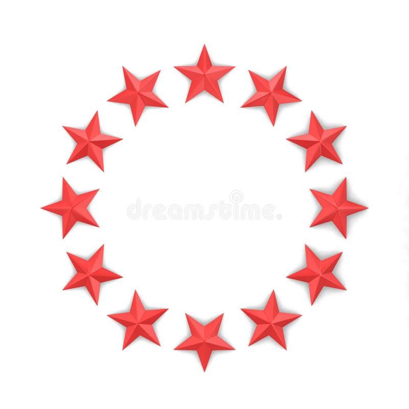 Звезды в форме круга иллюстрация вектора