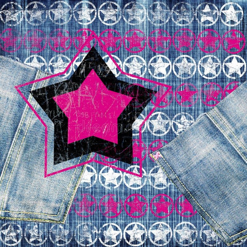 звезды джинсыов ретро иллюстрация штока