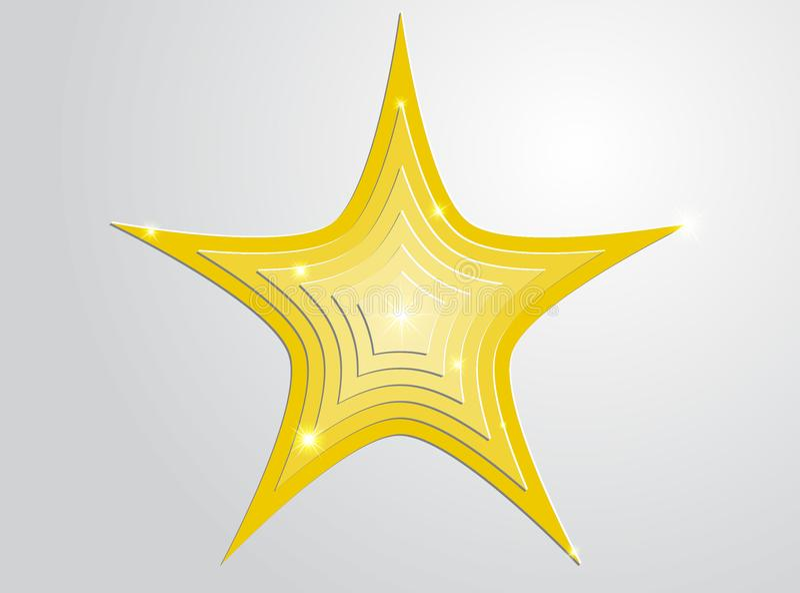 Звезды золота в звездах стоковое фото rf