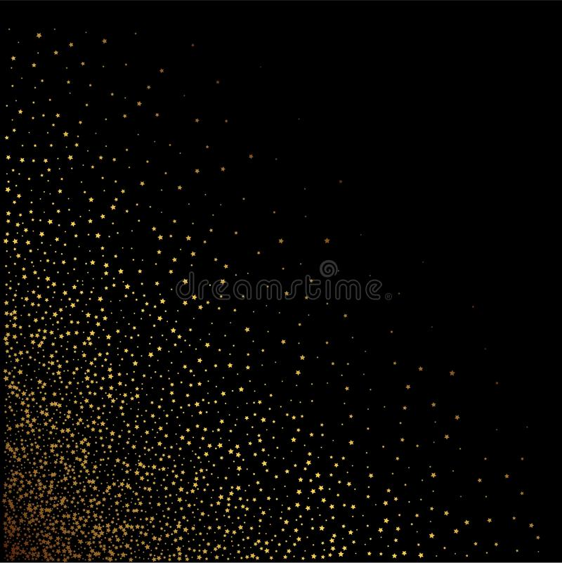 Звезды золота на черной предпосылке r бесплатная иллюстрация
