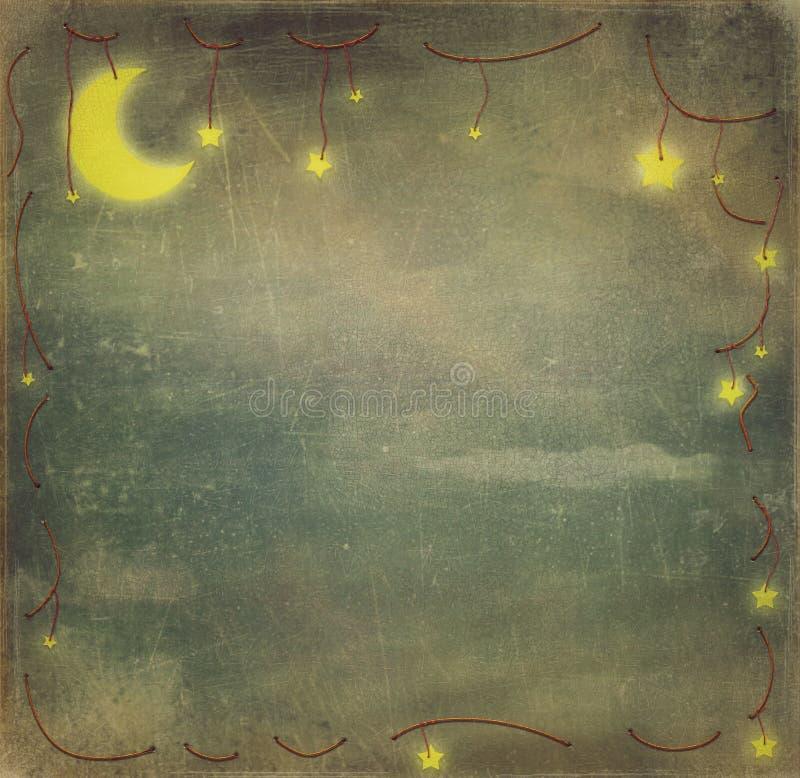 Звезды и луна иллюстрация штока