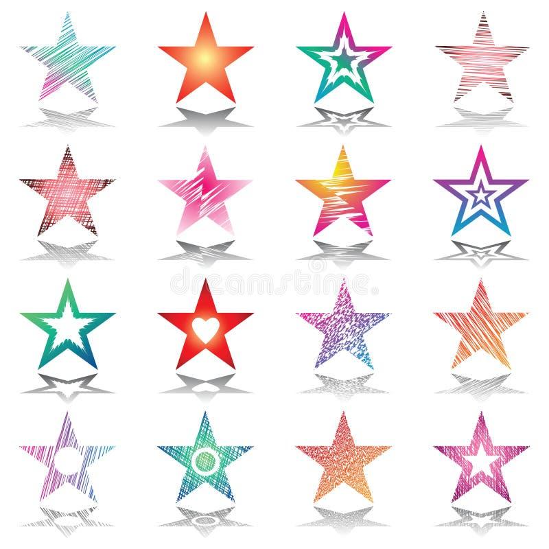 звезды комплекта элементов конструкции иллюстрация штока