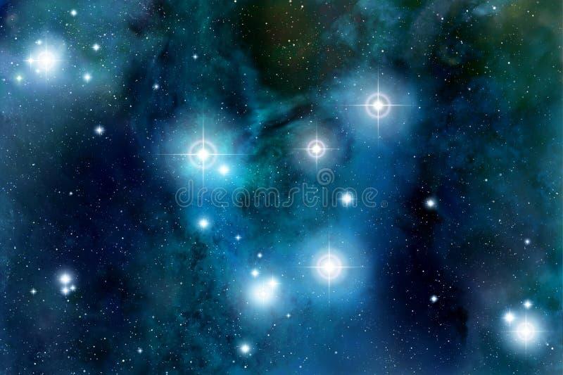 звезды космоса пирофакела иллюстрация вектора