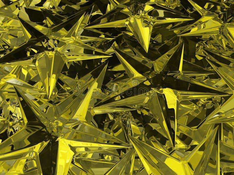 Звезды Кристл золота бесплатная иллюстрация