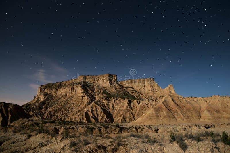 Звезды над пустыней стоковое фото rf
