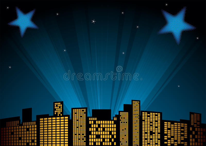 Звезды на небе иллюстрация вектора