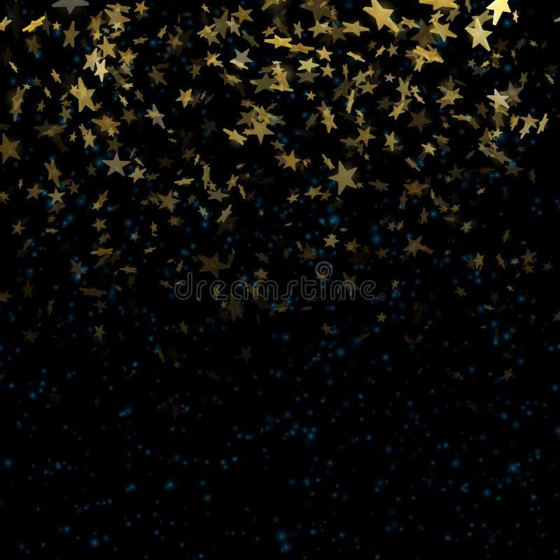 Звезды на defocused волшебной абстрактной предпосылке нерезкости 10 eps иллюстрация вектора