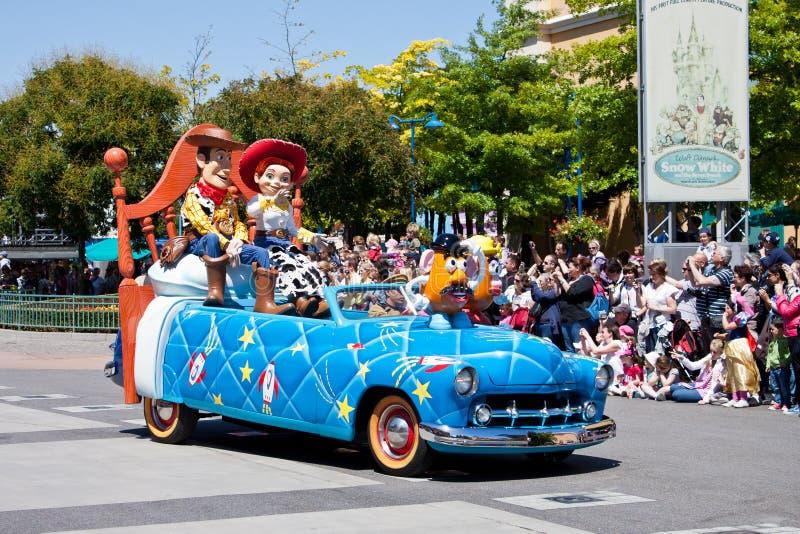 звезды парада Дисней n автомобилей стоковая фотография