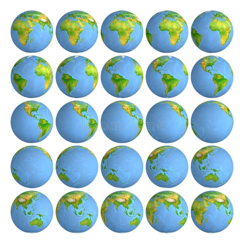 звезды планеты земли предпосылки полные глобус Старый Мир карты иллюстрации бесплатная иллюстрация