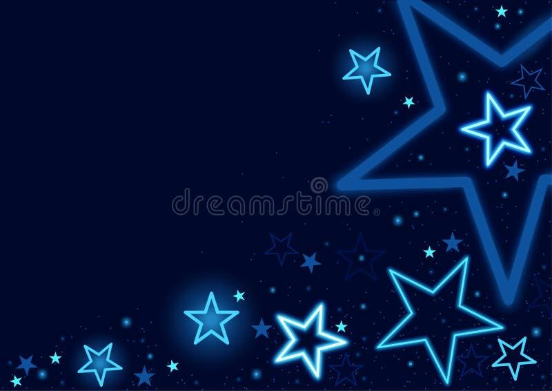 звезды предпосылки голубые бесплатная иллюстрация