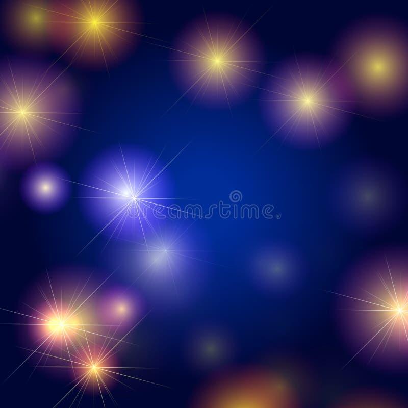 звезды предпосылки голубые иллюстрация вектора
