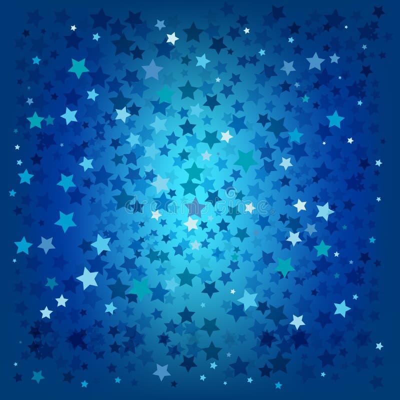звезды рождества абстрактной предпосылки голубые иллюстрация вектора