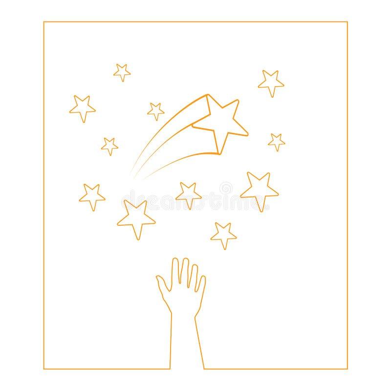 звезды рук иллюстрация вектора