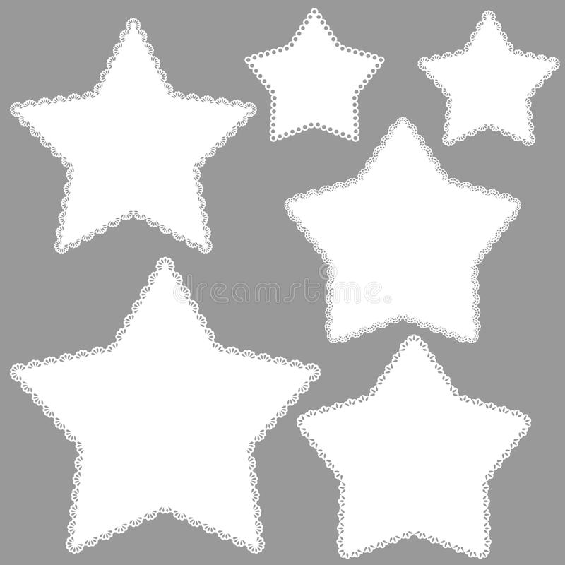 Звезды сбора винограда иллюстрация вектора