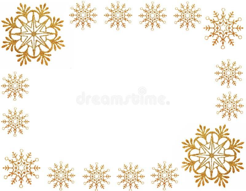звезды снежка золота рамки иллюстрация штока