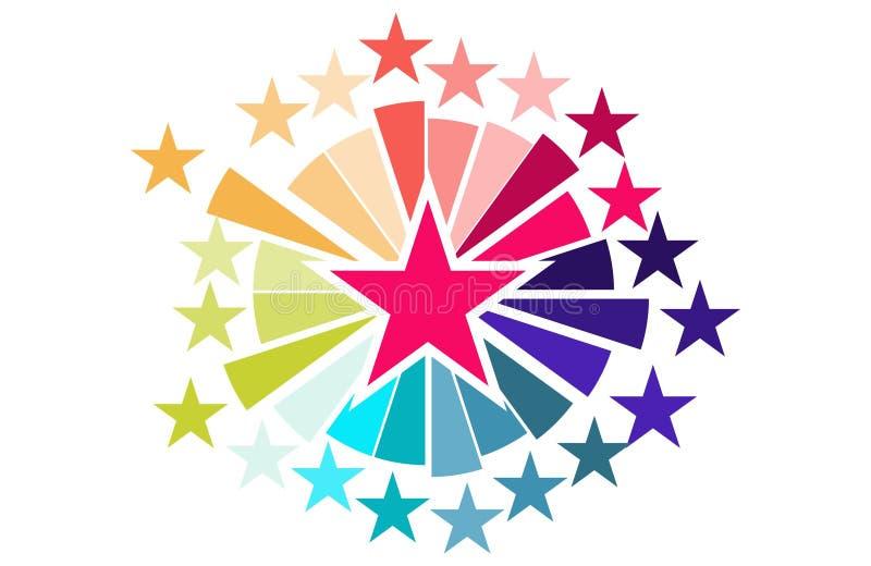Звезды торжества резюмируют предпосылку стоковые изображения rf