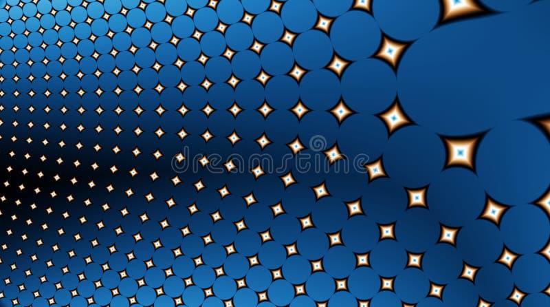 звезды фрактали поля 12uv2 иллюстрация вектора