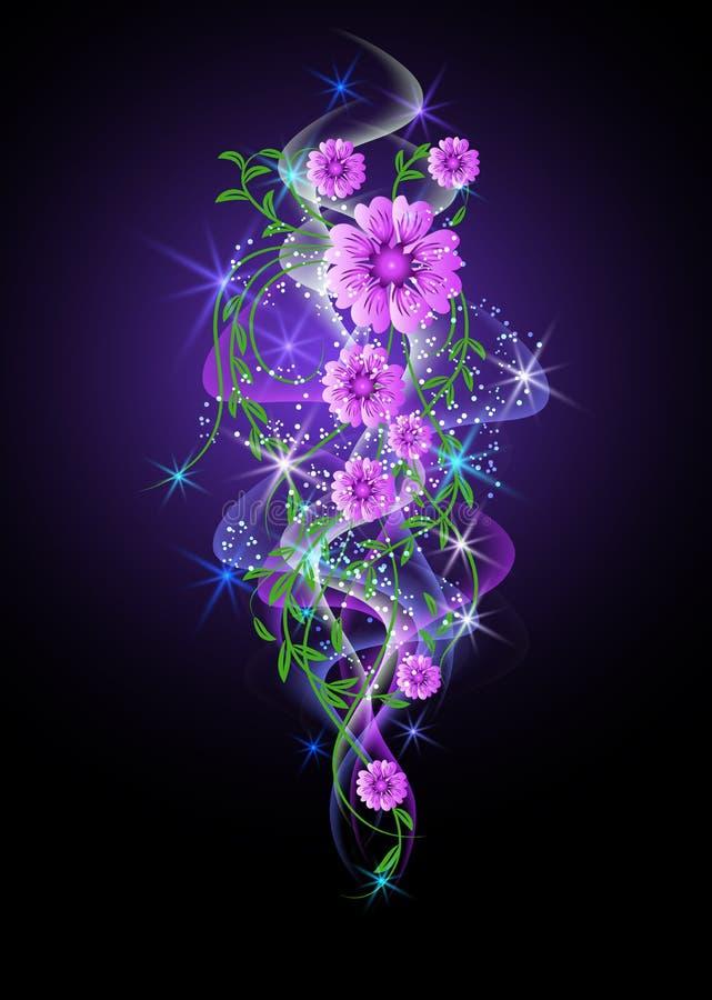 звезды цветков предпосылки накаляя бесплатная иллюстрация