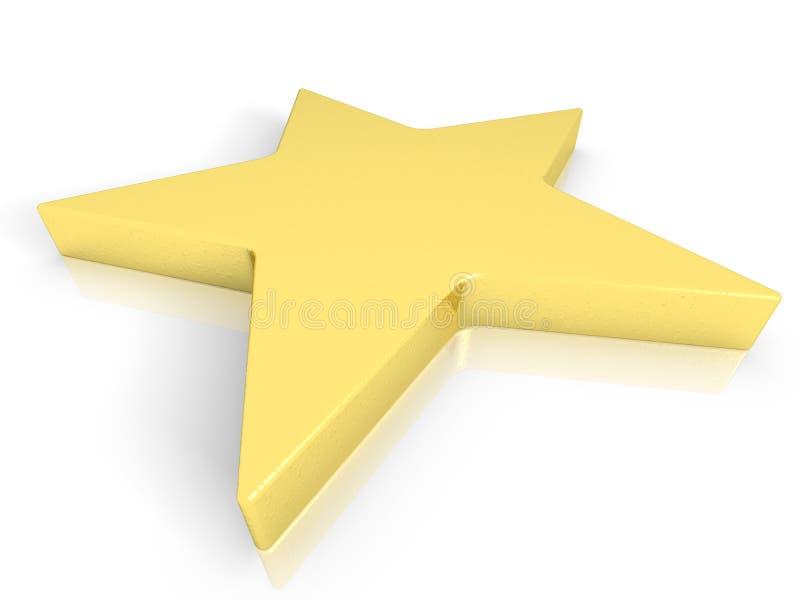 Звезда золота иллюстрация штока