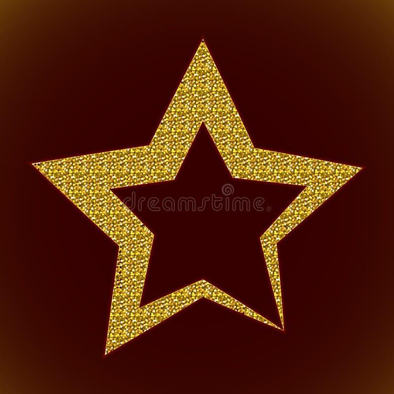 звезда золота 3d иллюстрация штока