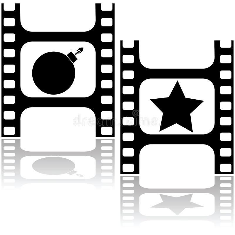Звезда или бомба иллюстрация вектора