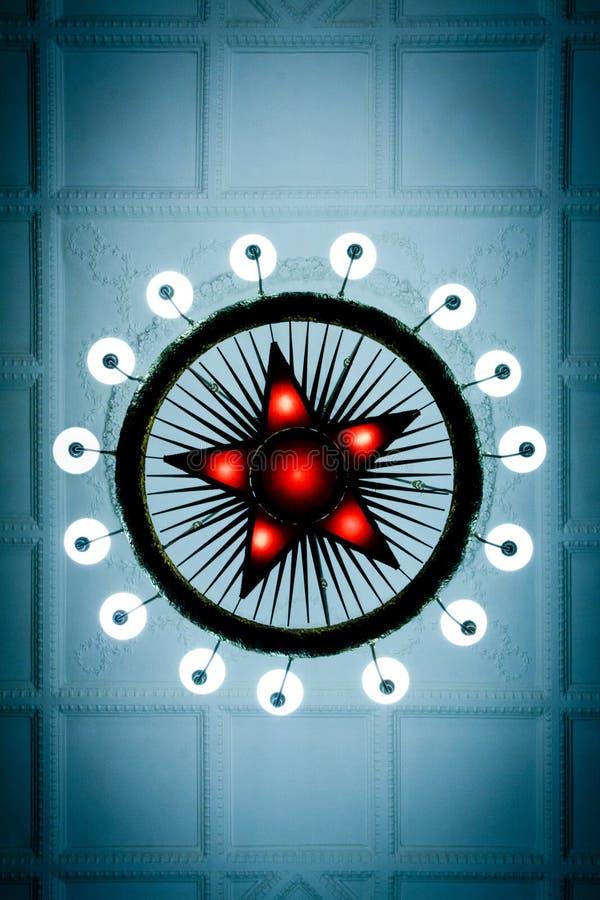 Звезда красного цвета Москвы стоковая фотография rf