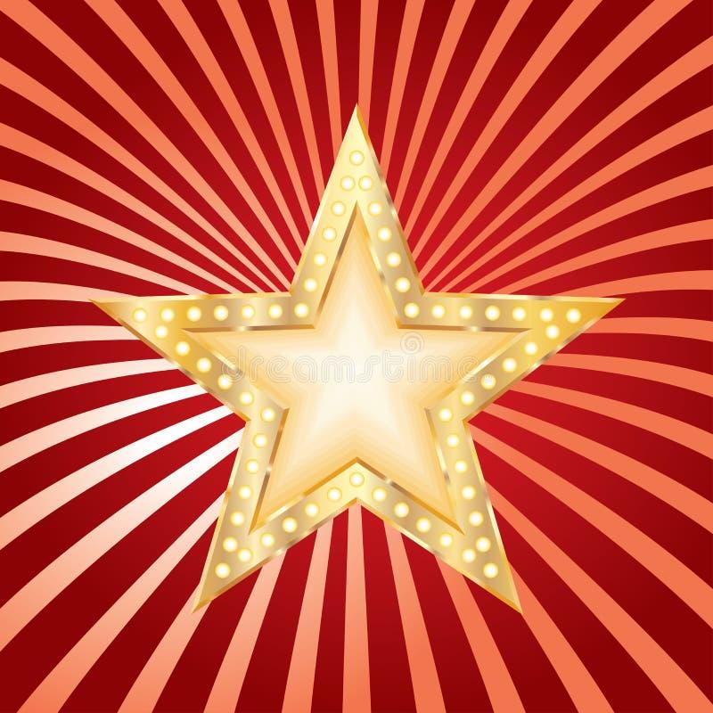 Звезда на взрыве этапа иллюстрация вектора