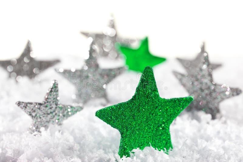 звезда рождества зеленая стоковое изображение