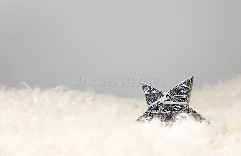 Звезда рождества серебряная стоковая фотография