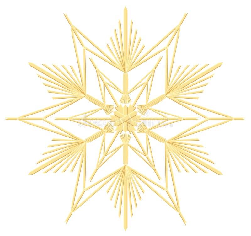 Звезда соломы иллюстрация вектора