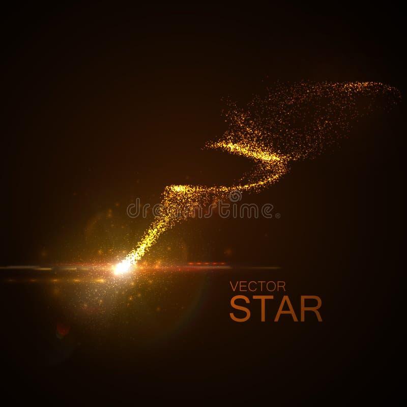 Звезда с накаляя следом иллюстрация штока