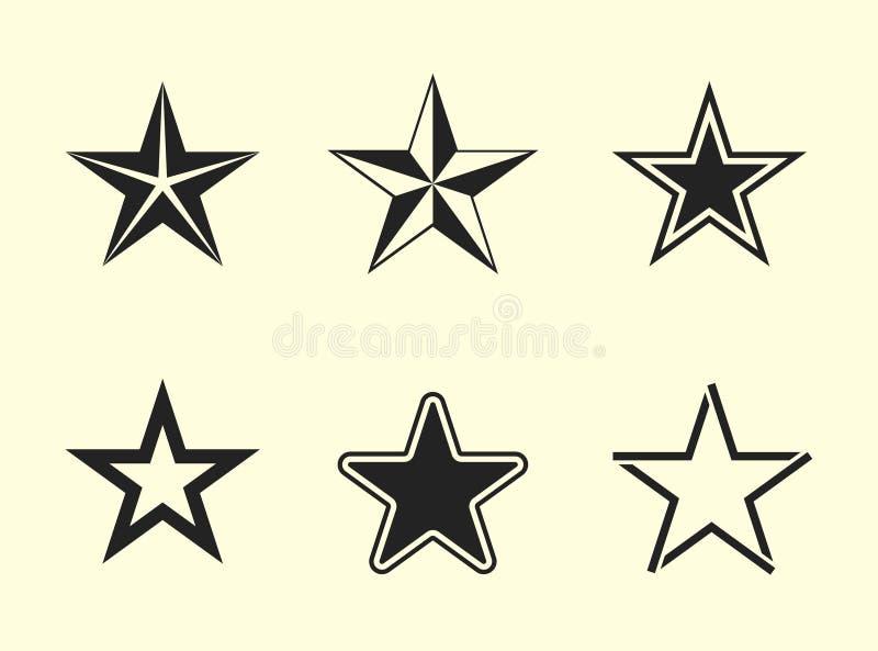 звезда установленная иконами бесплатная иллюстрация