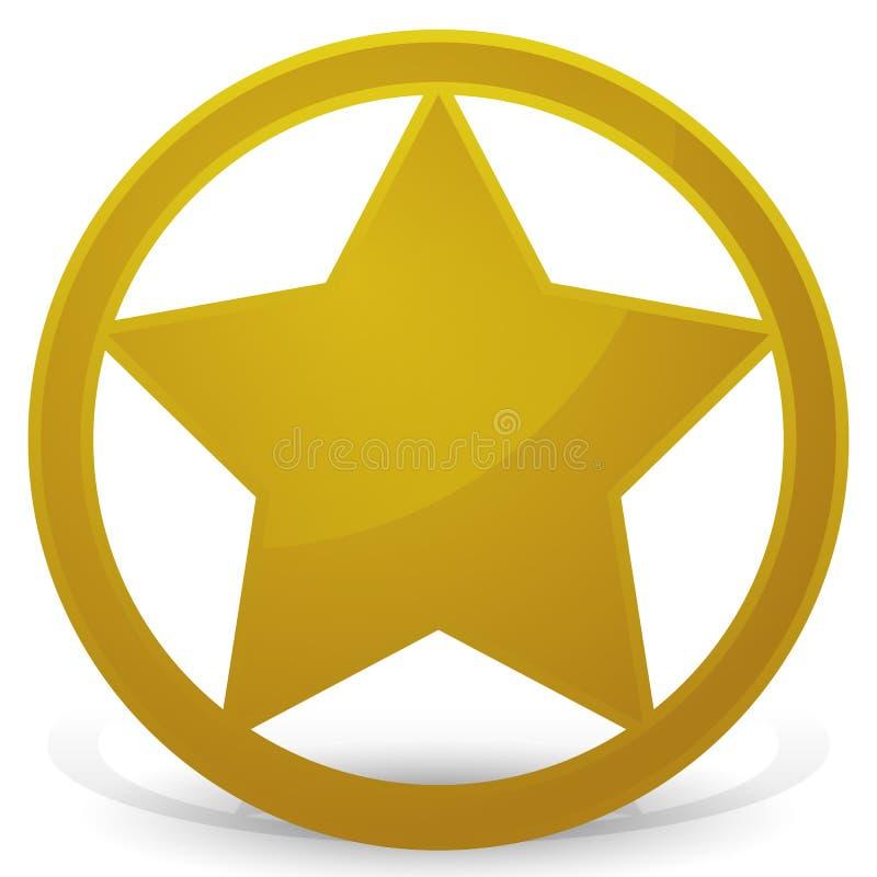 Звезда шерифа - значок иллюстрация штока