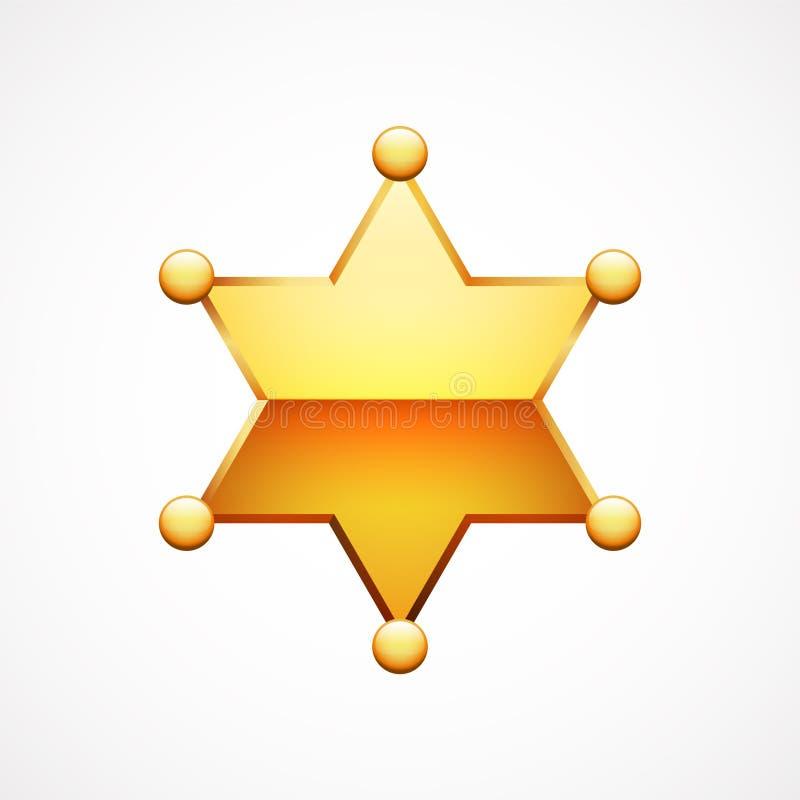 Звезда шерифа золота вектора сияющая бесплатная иллюстрация