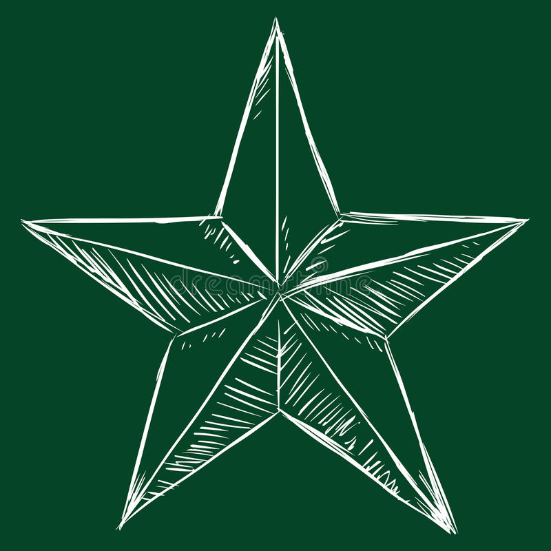 Звезда эскиза мела вектора иллюстрация вектора