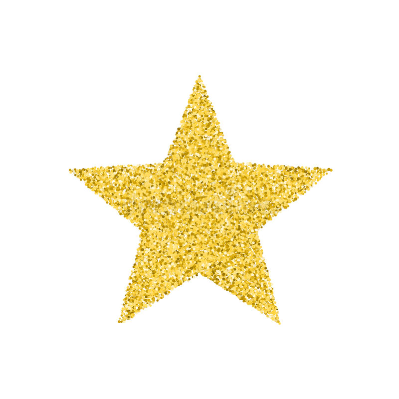 Звезда яркого блеска золотая иллюстрация штока