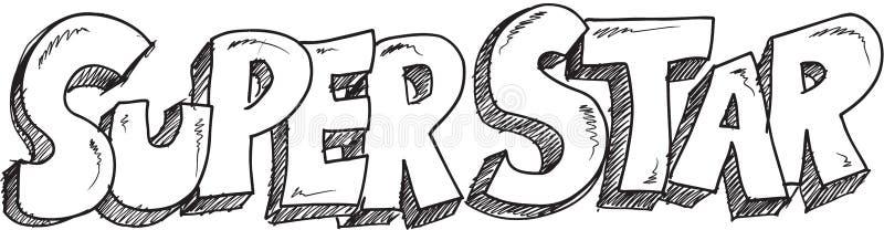 Звезда Doodle супер бесплатная иллюстрация