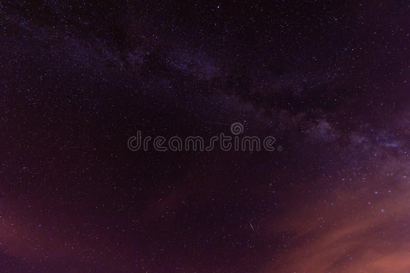 Звездная ночь над Тенерифе стоковое изображение