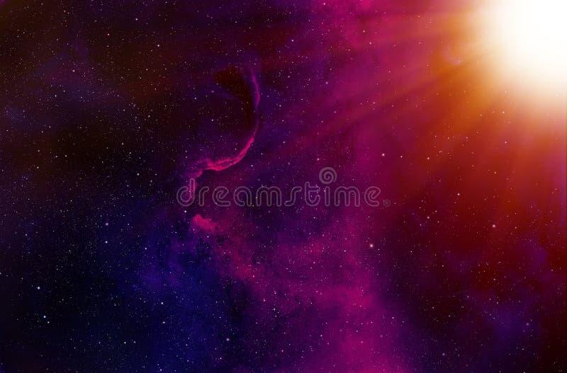 Звезды и предпосылка лучей Солнця иллюстрация штока