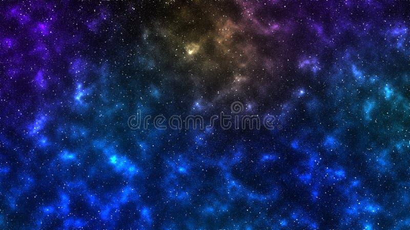 Звезды межзвёздных облаков космоса вселенной стоковое изображение