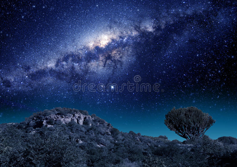 Звезды млечного пути в Южной Африке стоковая фотография rf