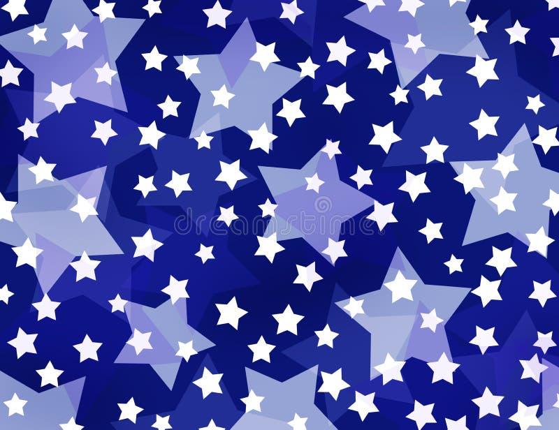 Звезды на голубой предпосылке иллюстрация вектора