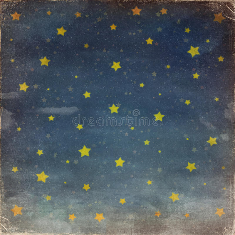 Звезды на небе grunge ночи иллюстрация вектора