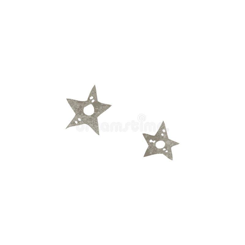 звезды ретро шаржа бросая иллюстрация штока