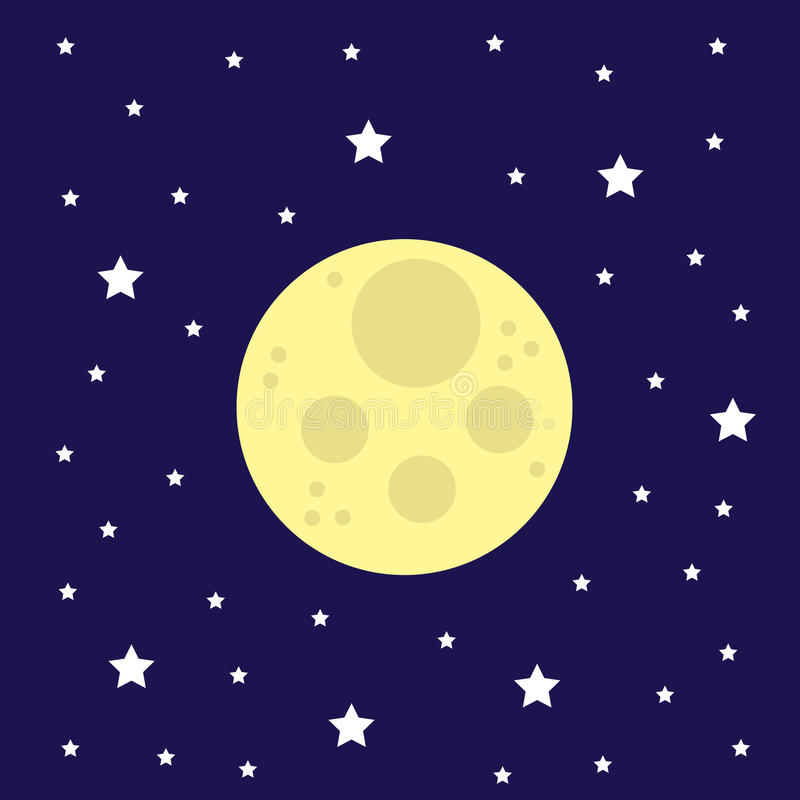 Звезды луны иллюстрация штока