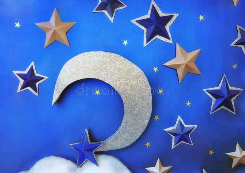 звезды луны jpg eps стоковое изображение